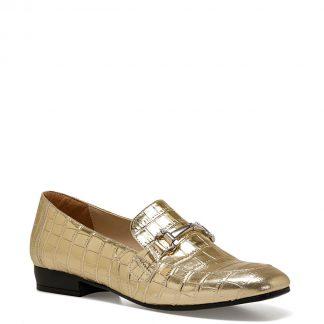 NINE WEST KOMI Altın Kadın Loafer Ayakkabı